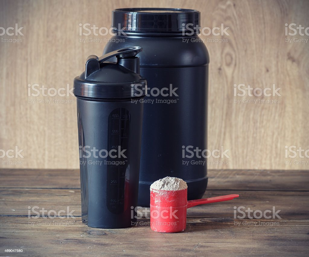 Whey protein stock photo