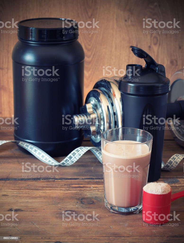 Whey protein powder royalty-free stock photo