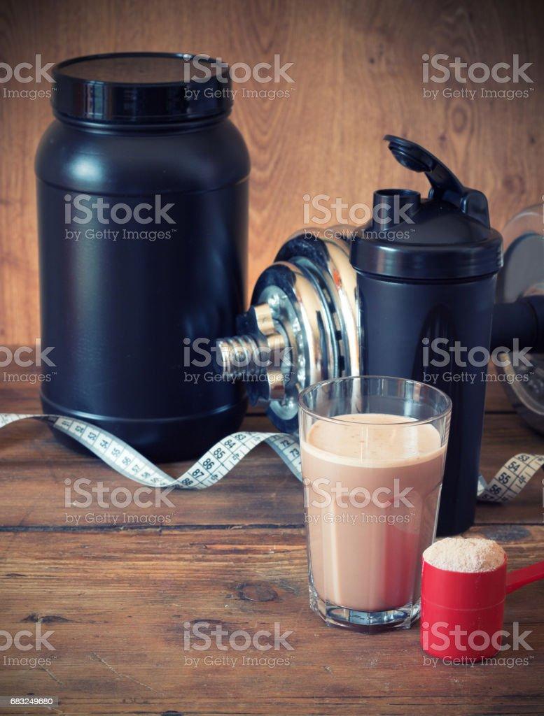 Whey protein powder Lizenzfreies stock-foto