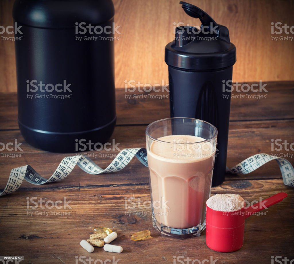 Whey protein powder foto de stock royalty-free