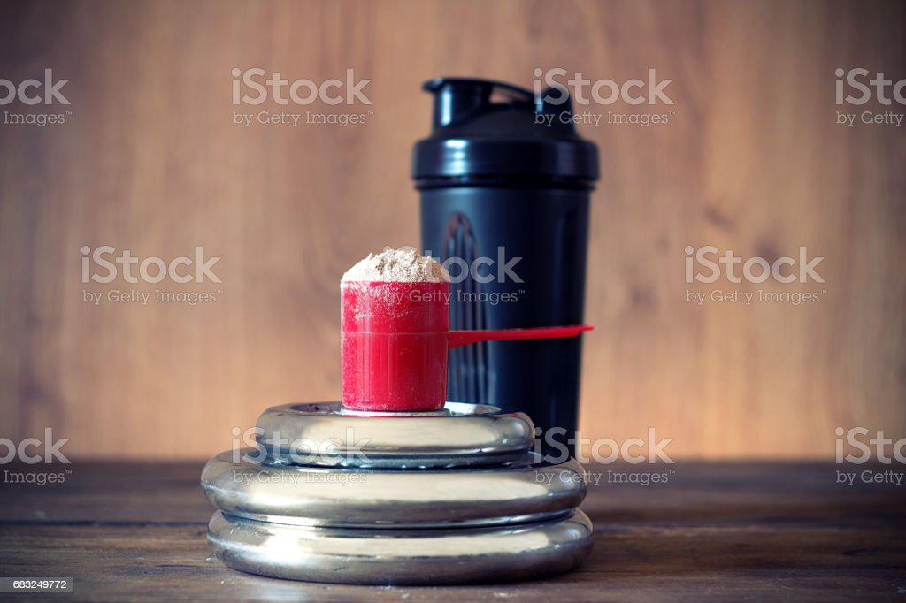 Whey protein powder royalty-free stock photo