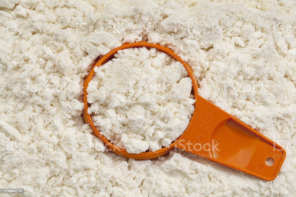 whey protein powder scoop royalty-free stock photo
