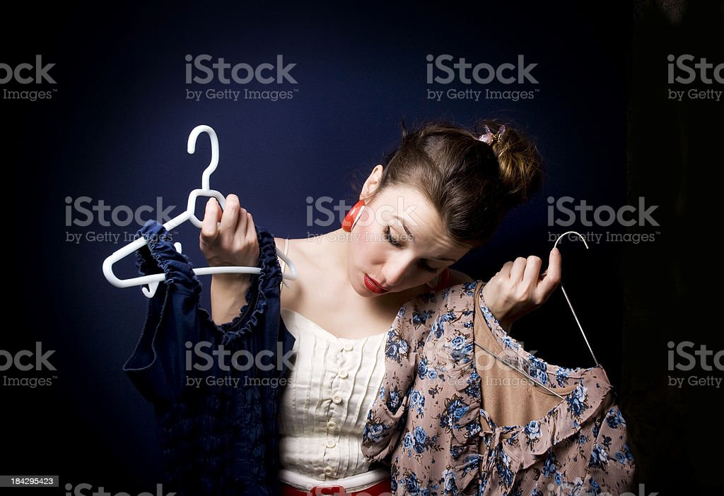 Which Dress To Wear? royalty-free stock photo