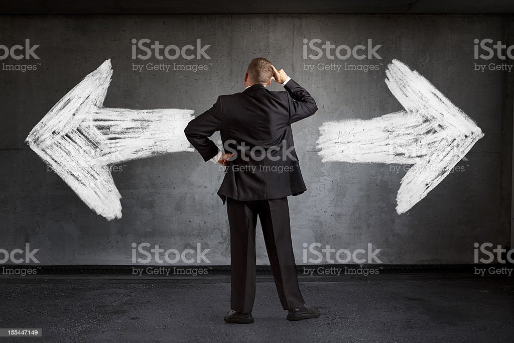 Which Way Do I Go Decisions stock photo