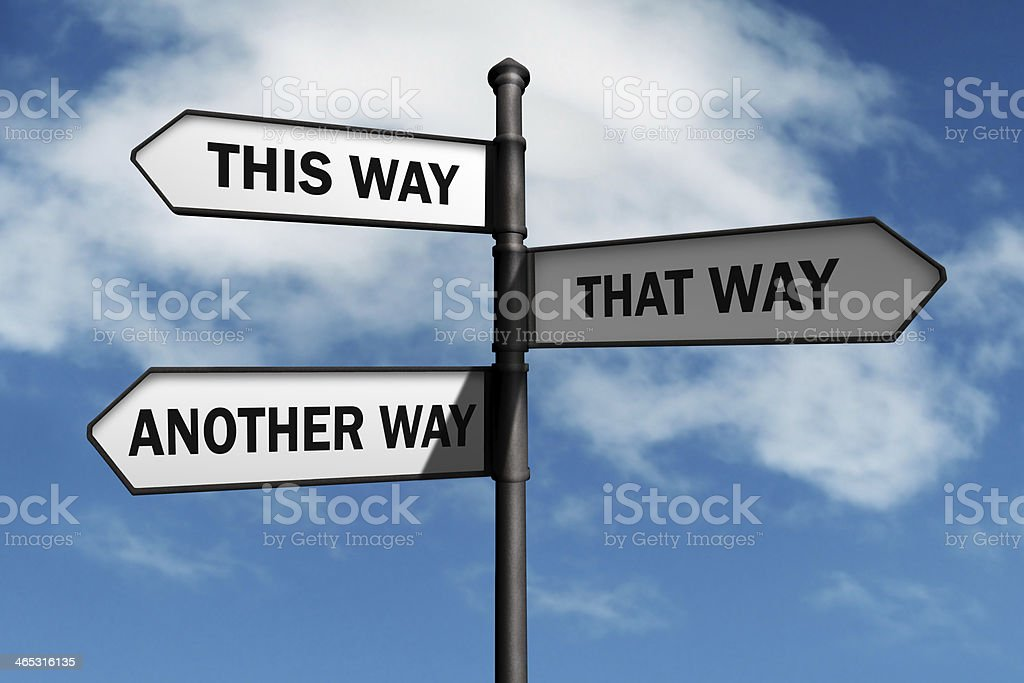 Which way to go? stock photo