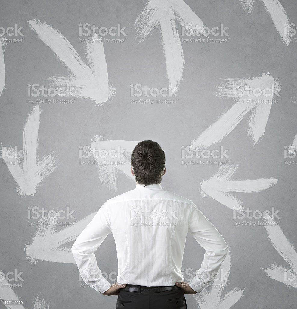 Which way to the success? stock photo