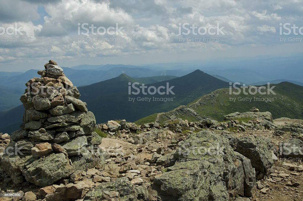 Which way to the summit? stock photo