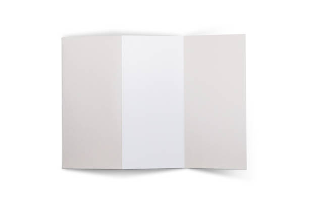 whie isolated trifold stock photo