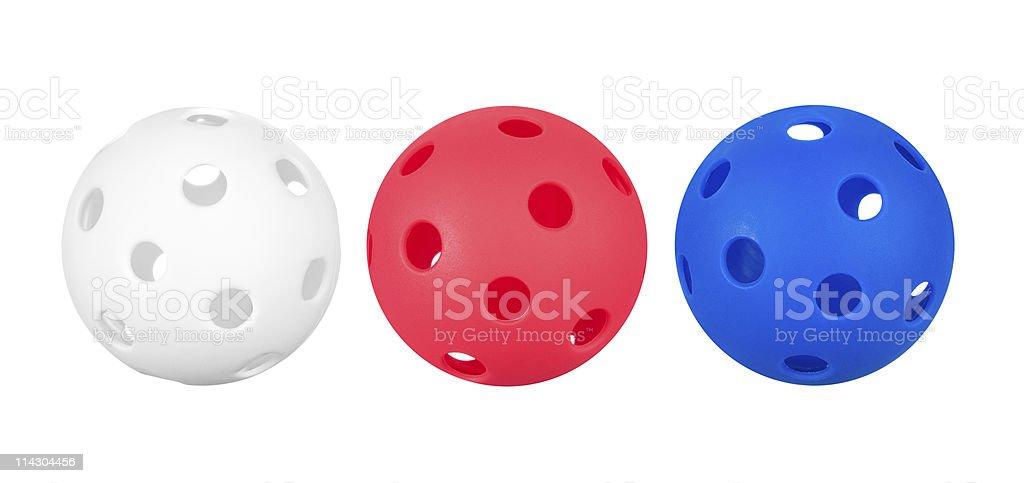 Whiffle balls stock photo