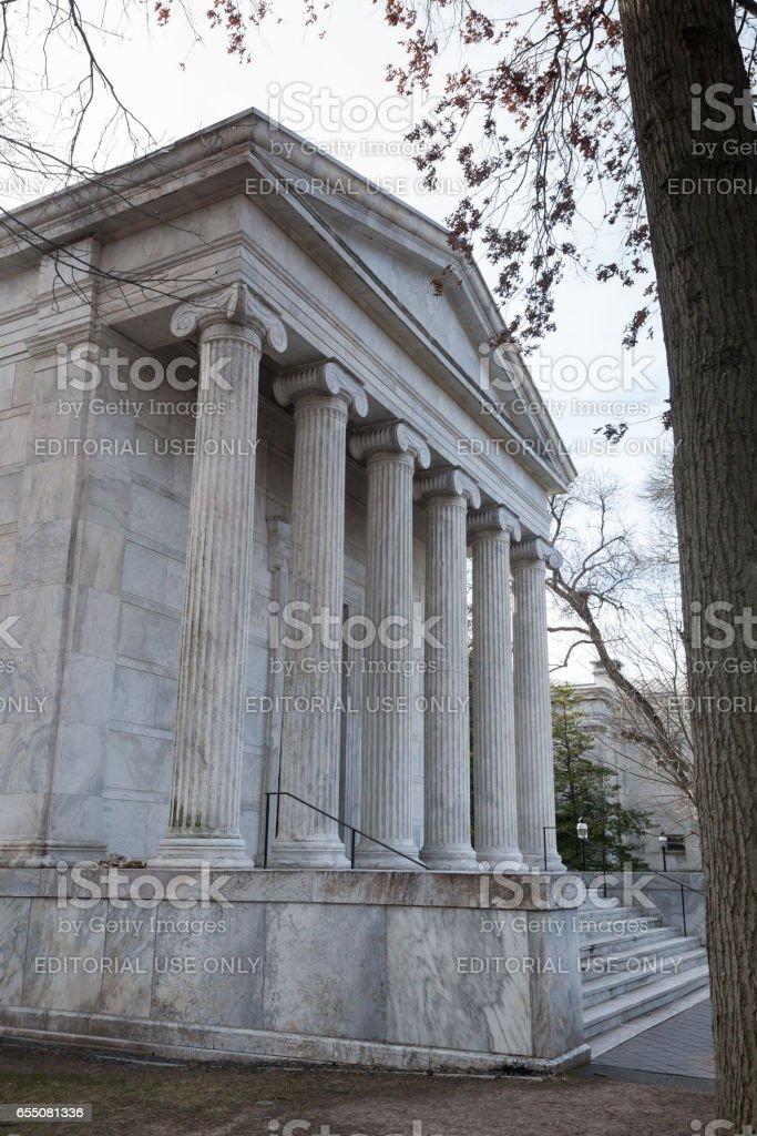 Whig Hall at Princeton University stock photo