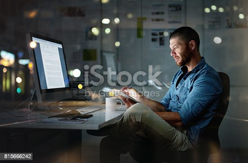 istock While others are sleeping, he's succeeding 815666242
