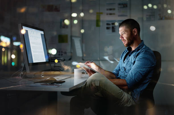 while others are sleeping, he's succeeding - male business stock photos and pictures