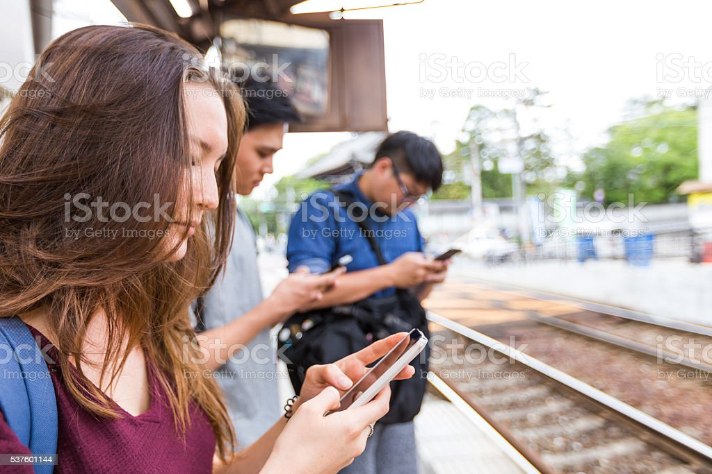 While we wait... Time for Social Media stock photo