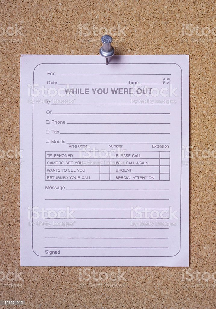 While you were out stock photo