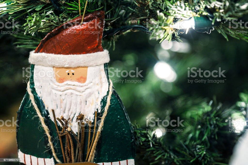 Whimsical Homemade Santa Claus Christmas Tree Ornament Stock Photo Download Image Now Istock
