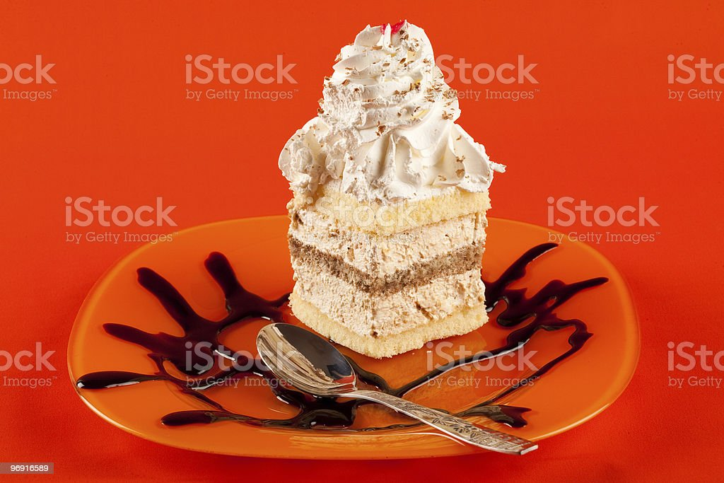 Whipped cream dessert royalty-free stock photo