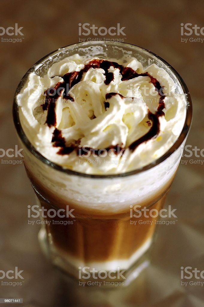 Whipped Cream Latte royalty-free stock photo