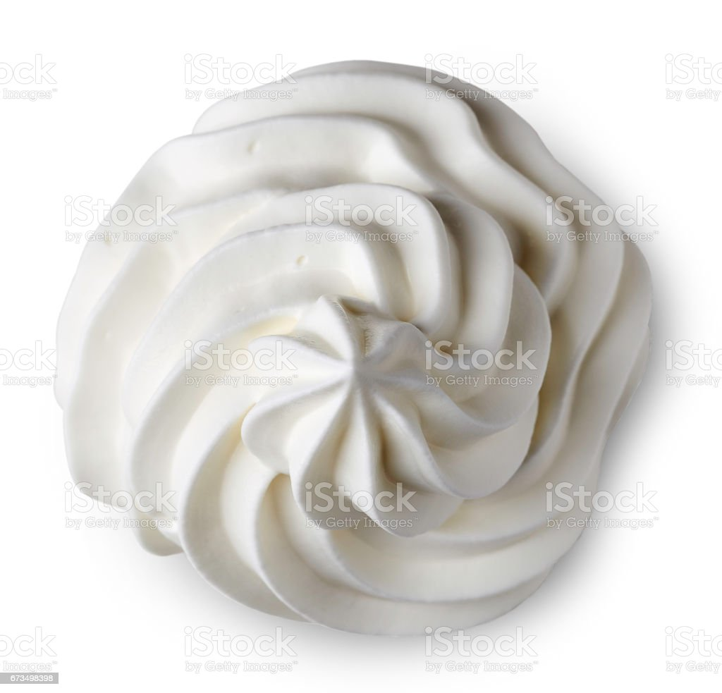 Whipped cream stock photo