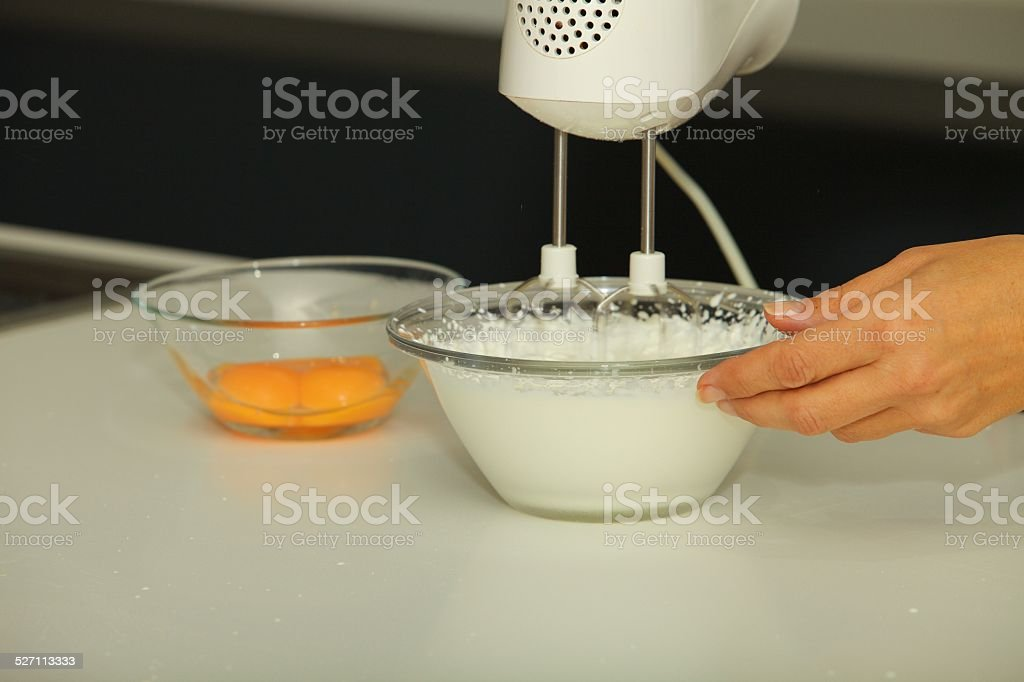 Whipped Egg Whites stock photo