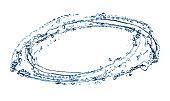 Whirl ブルーの水のしぶき