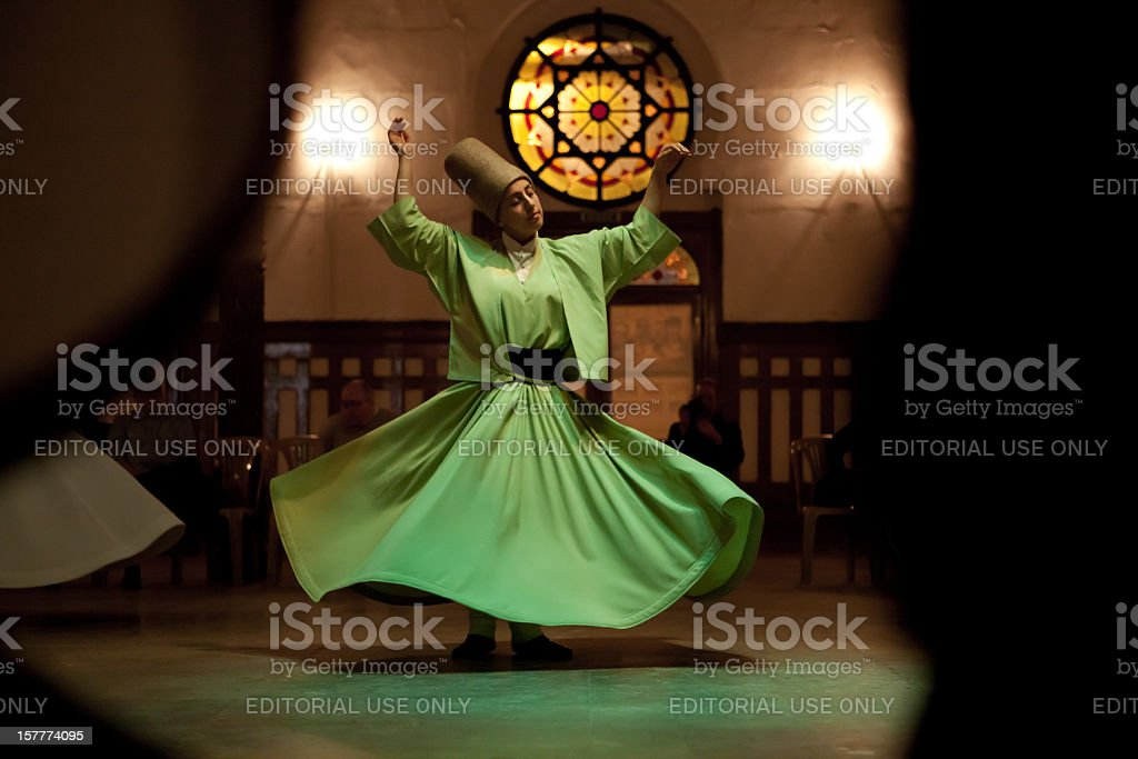 Whirling dervish stock photo