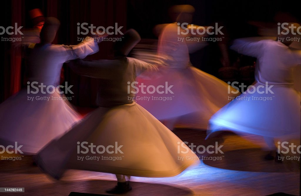 Whirling Dervishes from Konya stock photo