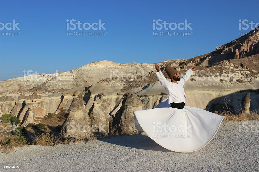 Whirling in love...Cappadocia stock photo