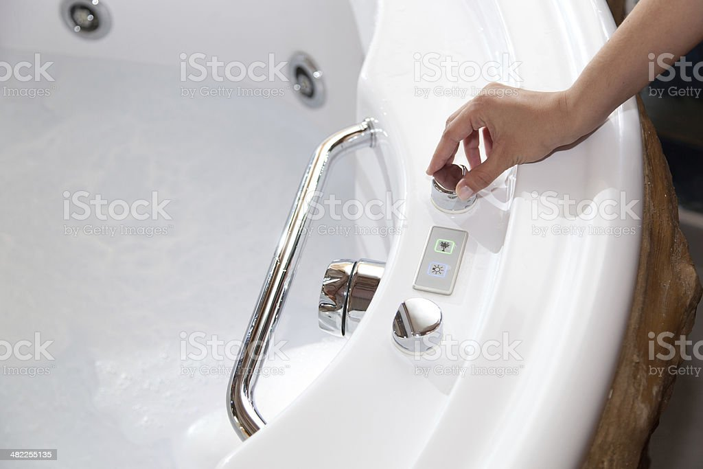 Whirlpool bath stock photo
