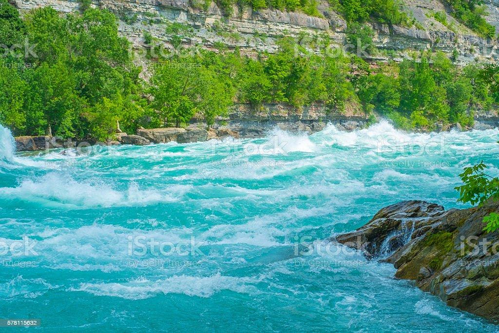 Whirlpool Rapids Niagara River stock photo