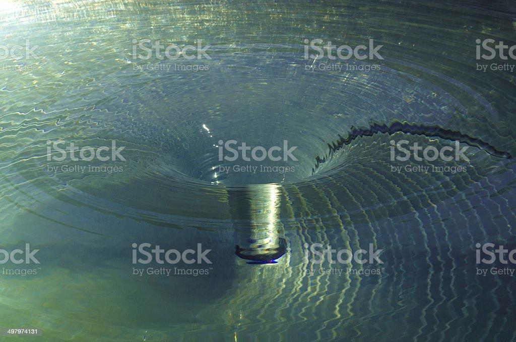 Whirlpool Water Vortex stock photo