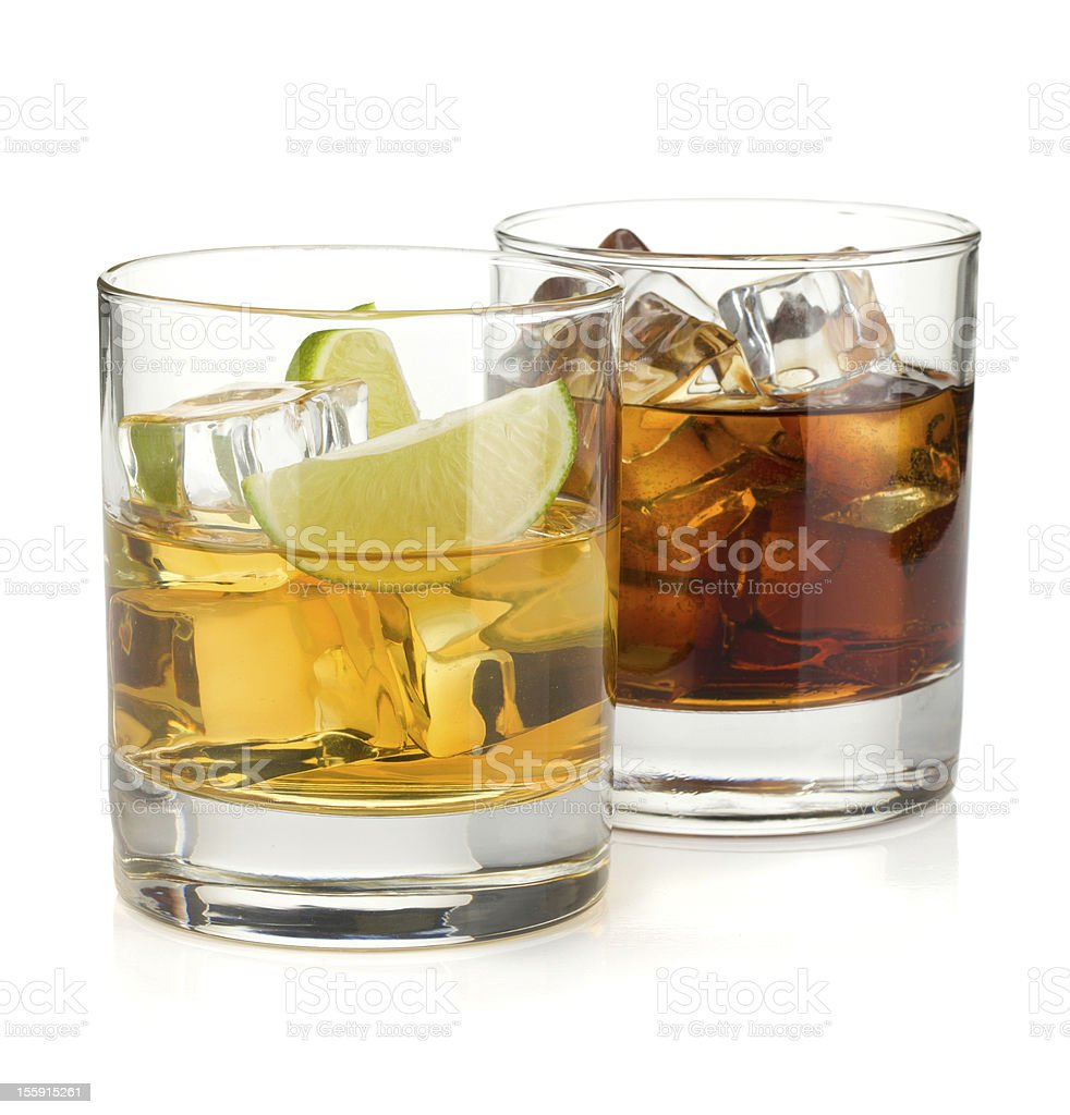 Whiskey and cola cocktails royalty-free stock photo