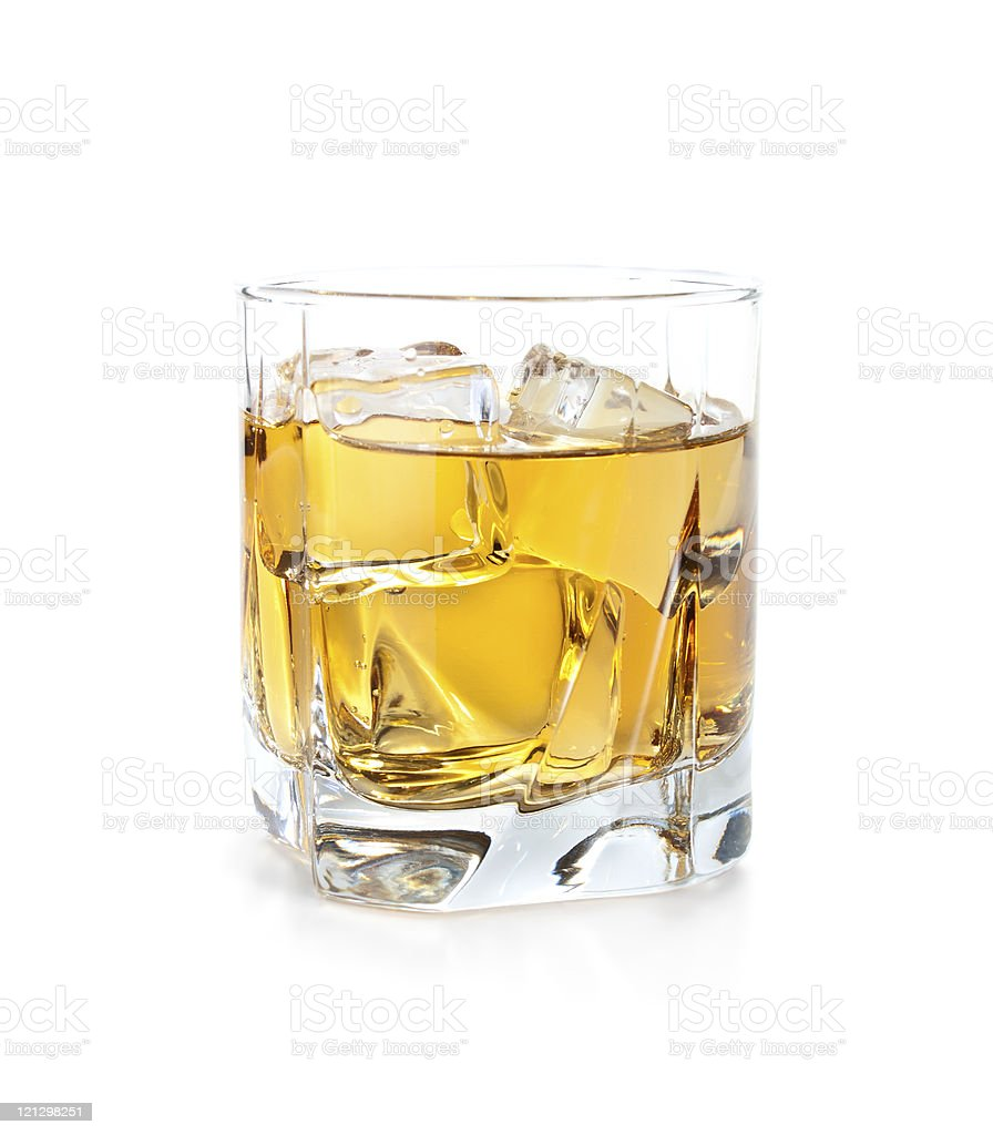 whiskey and ice royalty-free stock photo