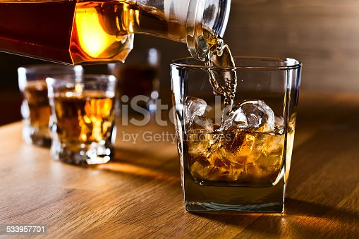 istock whiskey and natural ice 533957701