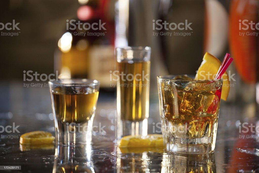 Whiskey at the Bar royalty-free stock photo
