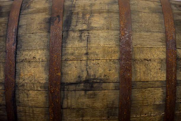 Whiskey Barrel Detail Texture stock photo