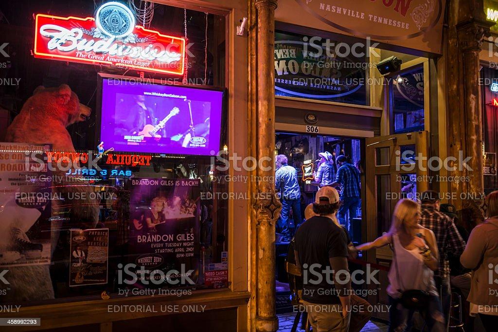 Whiskey Bent Saloon in Nashville, Tennessee stock photo