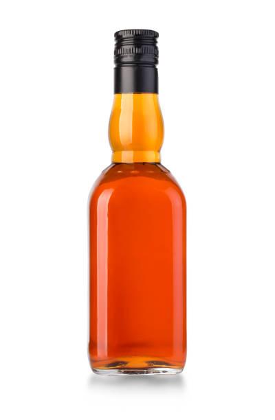 whiskey bottle isolated stock photo