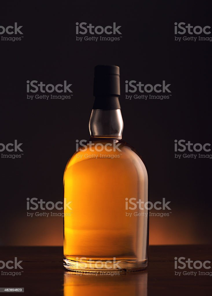 Whiskey Bottle stock photo