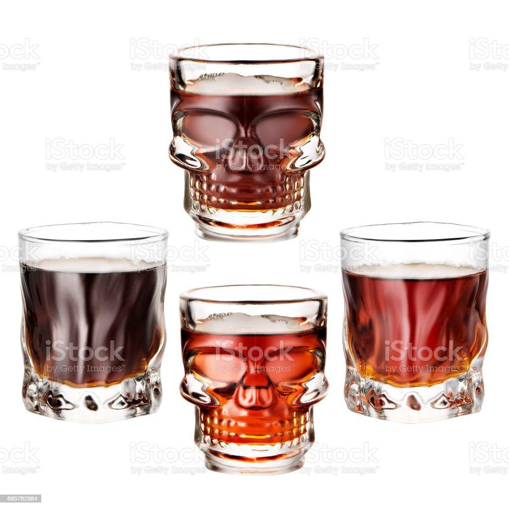 Whiskey clean  isolated on white background zbiór zdjęć royalty-free