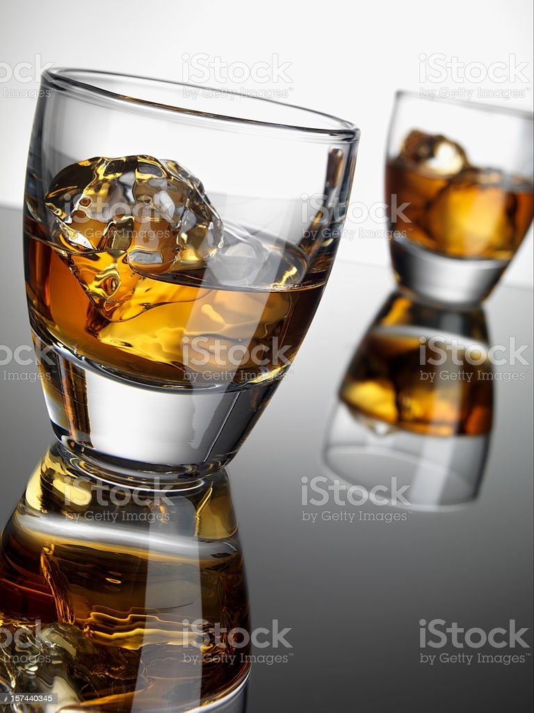 Whiskey Cocktail, copy space stock photo