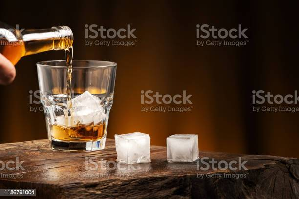 Photo of Whiskey cocktail with ice