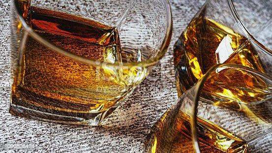istock Whiskey, Cognac, rum, brandy, alcohol, copy space 1090826424