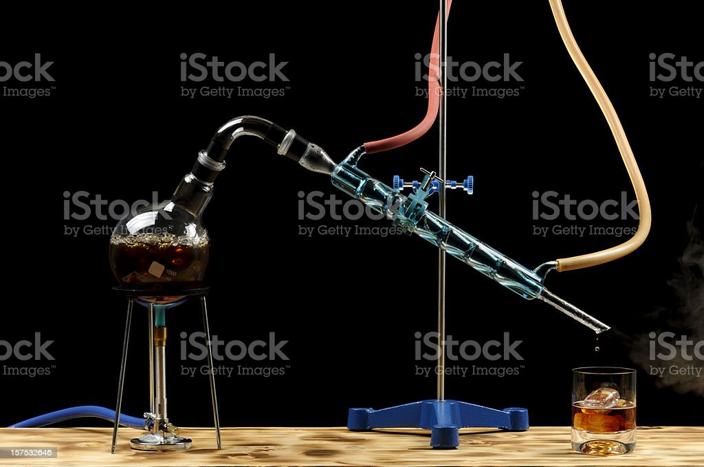Whiskey Distillation stock photo