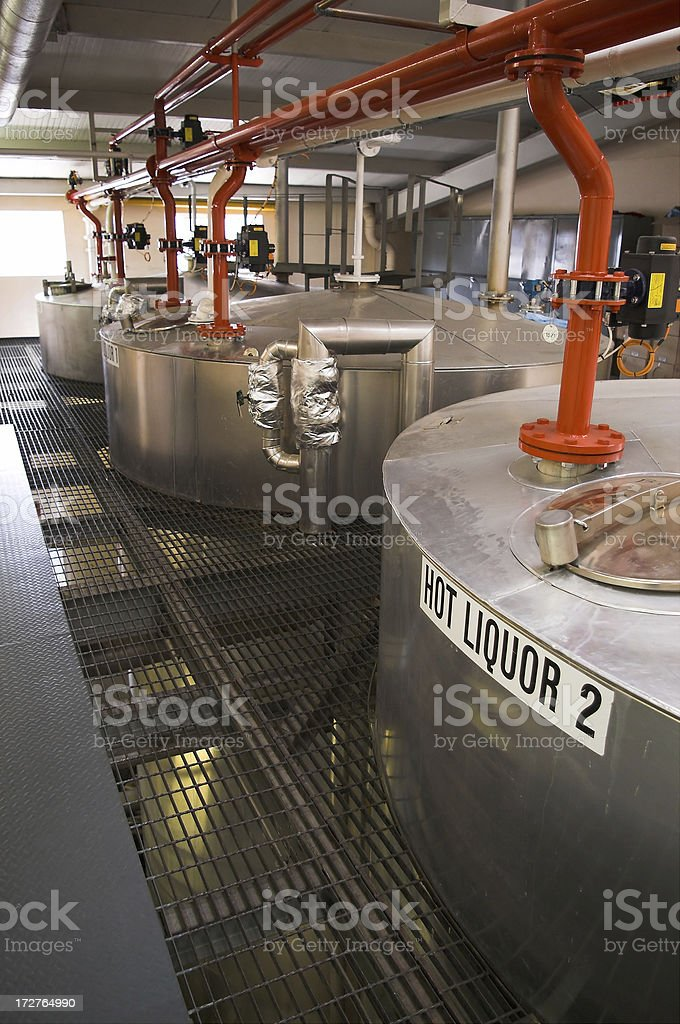 Whiskey distillery royalty-free stock photo