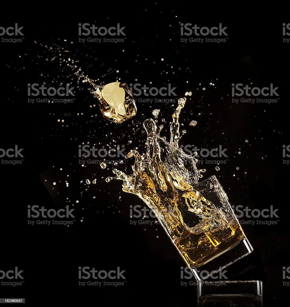 Whiskey drink royalty-free stock photo
