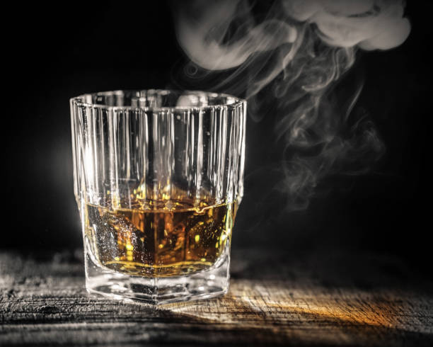 Whiskey evaporates slowly - Angels' share Whiskey evaporates slowly - Angels' share evaporation stock pictures, royalty-free photos & images