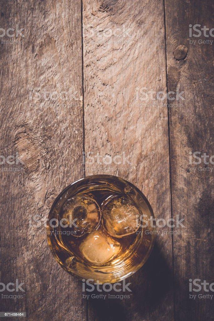 Whiskey glass. stock photo