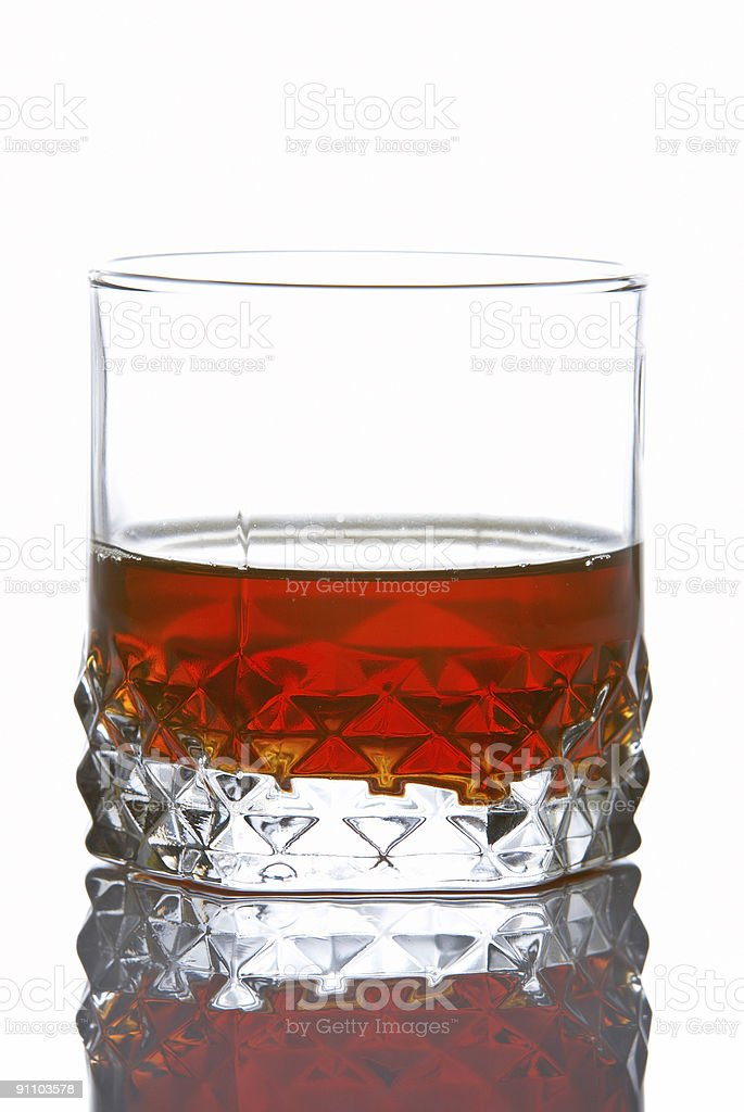 Whiskey glass royalty-free stock photo