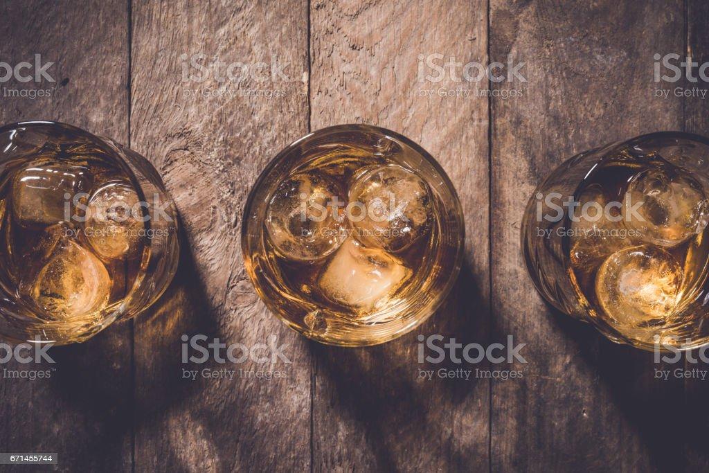 Whiskey glasses. stock photo