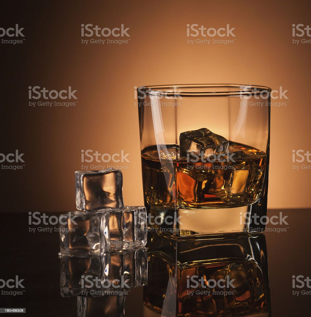 whiskey in glass royalty-free stock photo